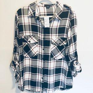 Sanctuary Boyfriend Shirt NWT Sz L